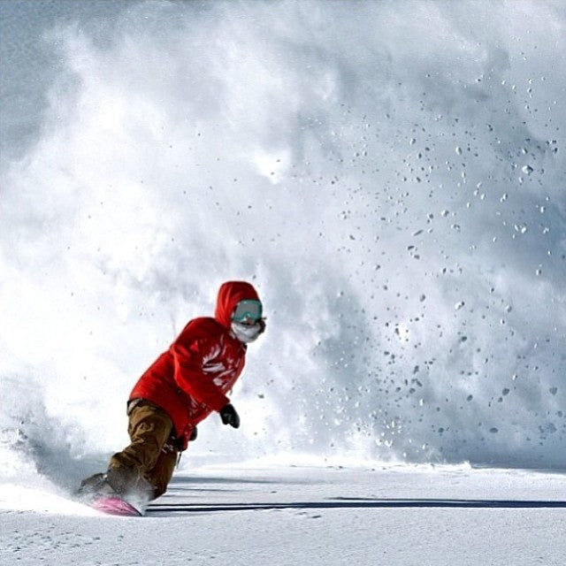 @leannepelosi with a big ole powslash courtesy of @snowboardmag. powabunga madpowdisease powderdaze