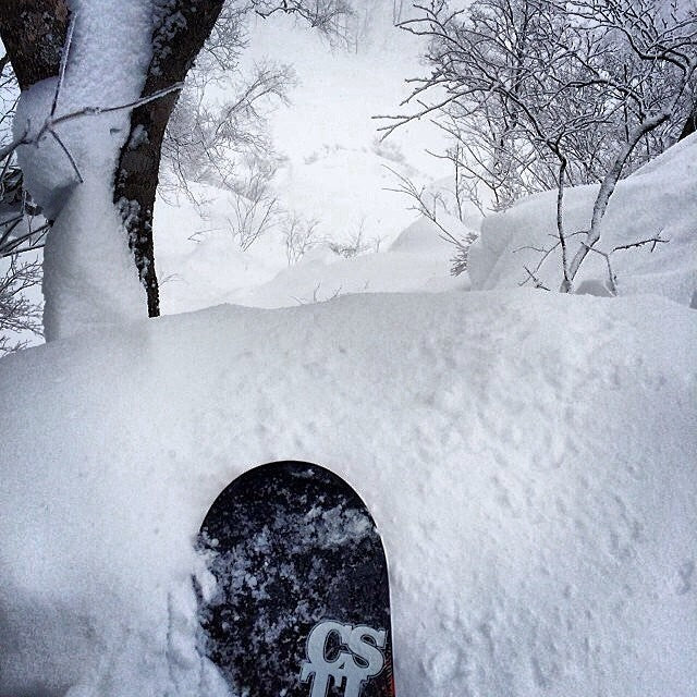 Happy valentinesday from @mstandish in Japan. deepstuff japow cstl powderisthebestvalentinesdaygift