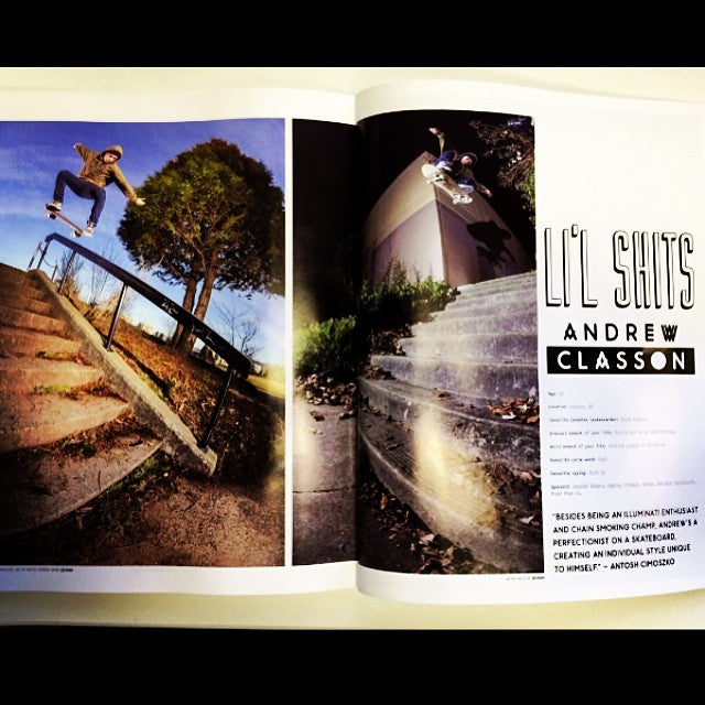 Congratulations to Andrew Classon aka @dehype who landed his self in the pages of the new @kingshitmag. Come get your copy free at the shop. #kingshit #lilshits