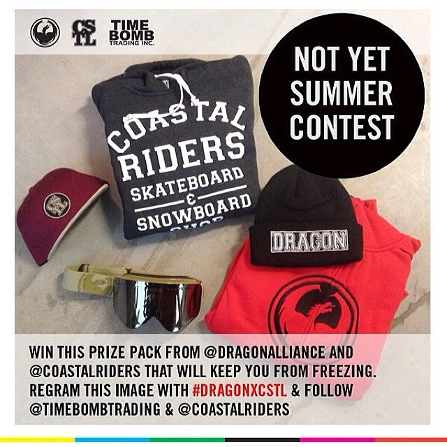 Don't forget to get your regram on. dragonxcstl and follow @timebombtrading and @coastalriders to enter.