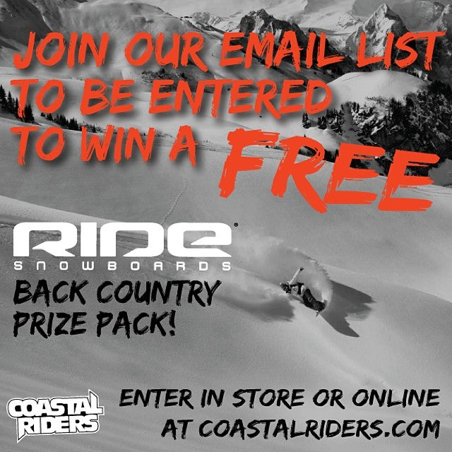 This contest is almost over so get your email in ASAP! free ride prizepack win shredpow boarding snowboarding winbig betterhurry