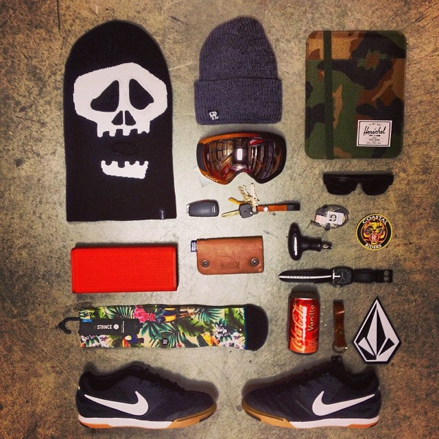 we got all your Christmas shopping needs! @stussy balaclavas @coastalriders toques @herschelsupply cases @nixon_now speakers and watches @nikesb shoes @stancesocks @oakley goggles and @burtonsnowboard accessories. 7daysleft