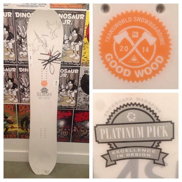 looks like fresh snows coming! gonna need a slashsnowboards atv by @gigiruef to handle that powder. @snowboardmag and @twsnow recognize this board givin it platinumpicks and goodwood awards respectively thisthingrips