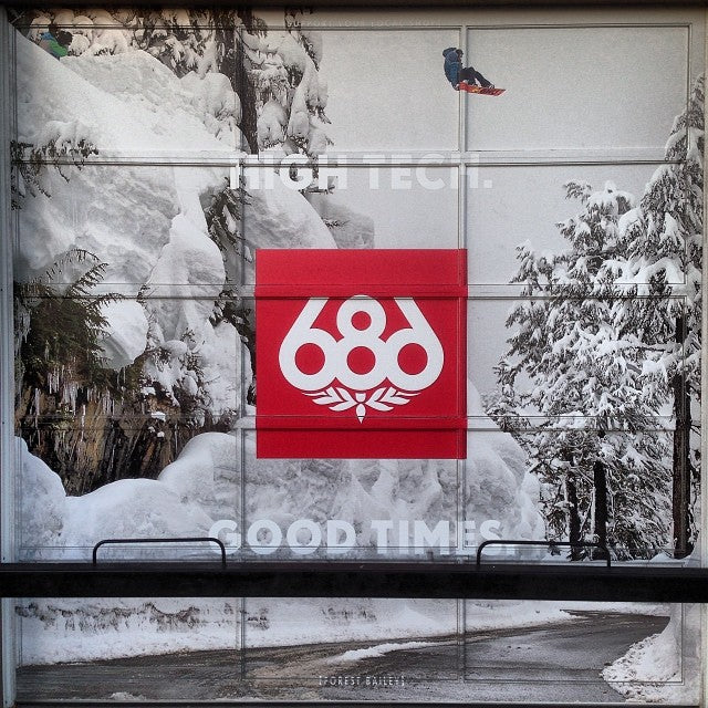 new @686 garage door decal at the shop @forestbailey sending the baker road gap legendary anyone in insta world ever hit that?