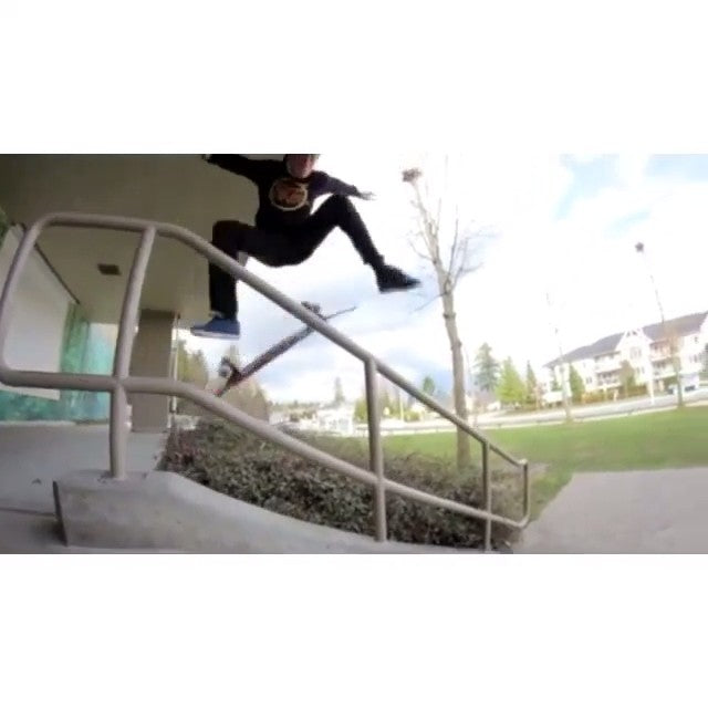 Steven Burke aka @yzeebs filmed so stuff yesterday with @angelo_fajardo. So crisp. #coastalriders #coastalclips #skateboarding