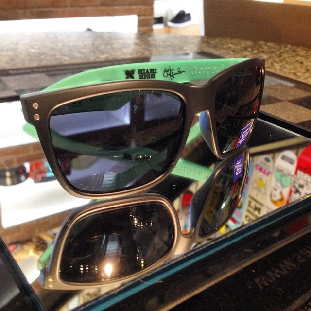 @iseyewear X @miamihighco collab sunglasses just released in shop. come get em while they're hot! #dontfeedthewildlife