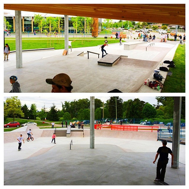 Thank you to the #CityOfSurrey for the new #Cloverdale #skatepark. It's good, real good.