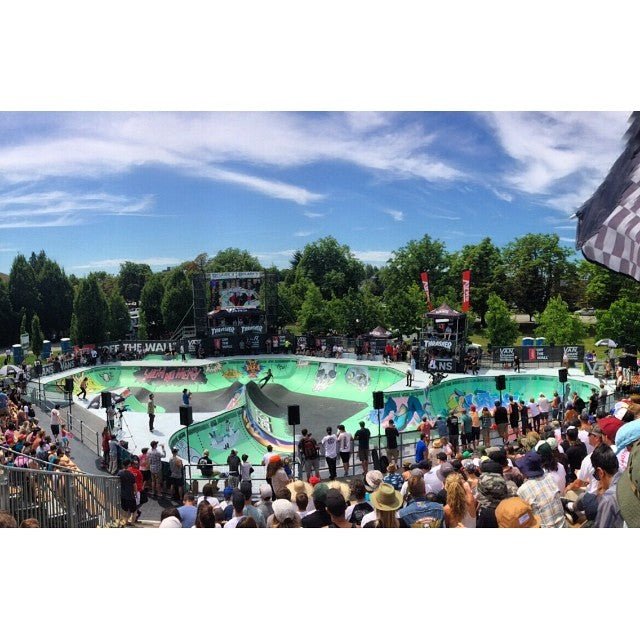 @vanscanada #vandoreninvitational going on now. photo from team rider @dustin_locke spectating the event