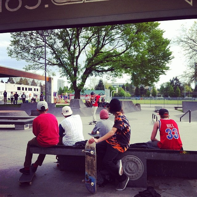 Brief delay due to the rain, but the Chuck Bailey Skate Jam is now goin strong! We're out here giving out some sick prizes from @stancesocks, @girlskateboards and more #weouthere #youthweek #chuckbailey