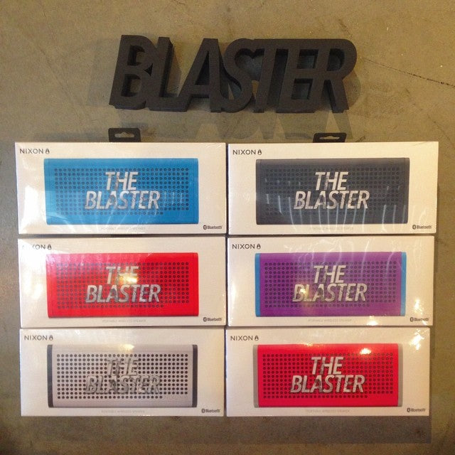 just got a restock of @nixon_now #blasters. nothing better for playing tunes on long hot days at the skate park or beach