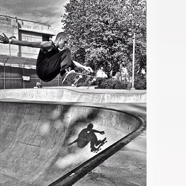 @johnhanlon604 with a proper frontside Ollie. regram from @bradheppnerphoto. fbf
