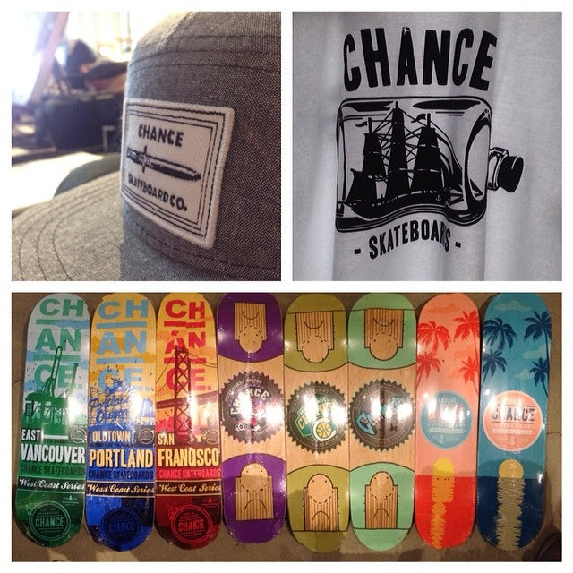 2014 spring @chanceskateboards apparel and decks released in shop today. limited gear only available at select shops dagger vancity skateeverything