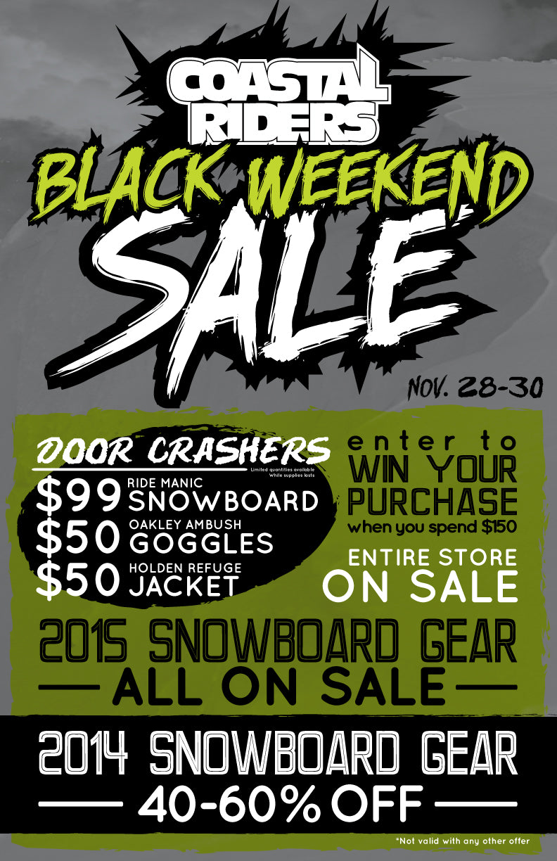 Coastal Riders Black Weekend Sale