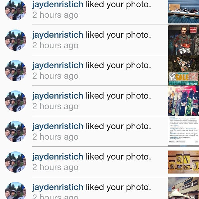 @jaydenristich givin us mad love. Thanks homie! langleylocs