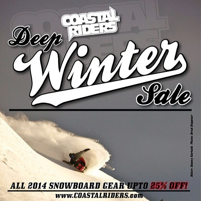 dreamin of a new set up? no better time to buy one than at @coastalriders Deep Winter sale. up to 25% off ALL 2014 snowboard gear. boardsfordays freshsnowfreshboard