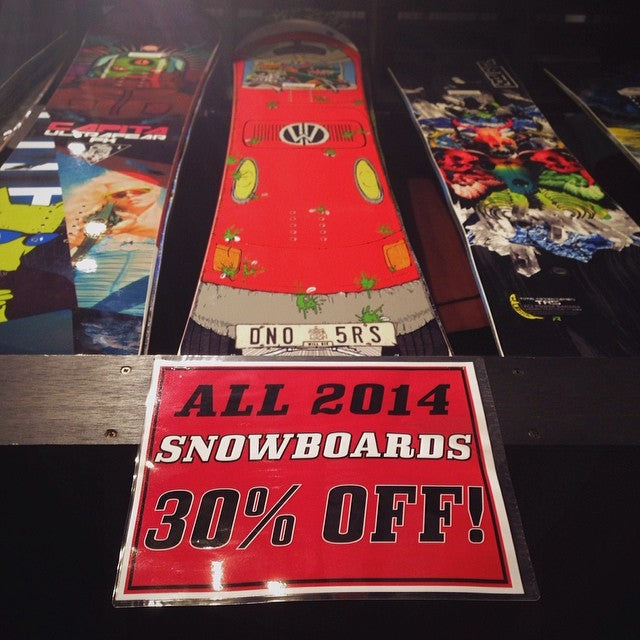 snows coming on Sunday! get in shop and grab that new @dinosaurs_will_die @capitasupercorp or @libtechnologies board you've been dreaming about for 30% off deeperwintersale dealsfordays