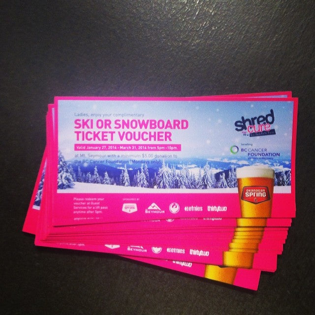 THEY'RE BACK! Ladies ride free night! Get your vouchers here! @mtseymour ladies ride free voucher betterhurry goingfast