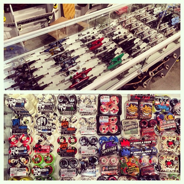 New trucks and wheels too! @independenttrucks @destructotrucks @thundertrucks venturetrucks @boneswheels @spitfirewheels