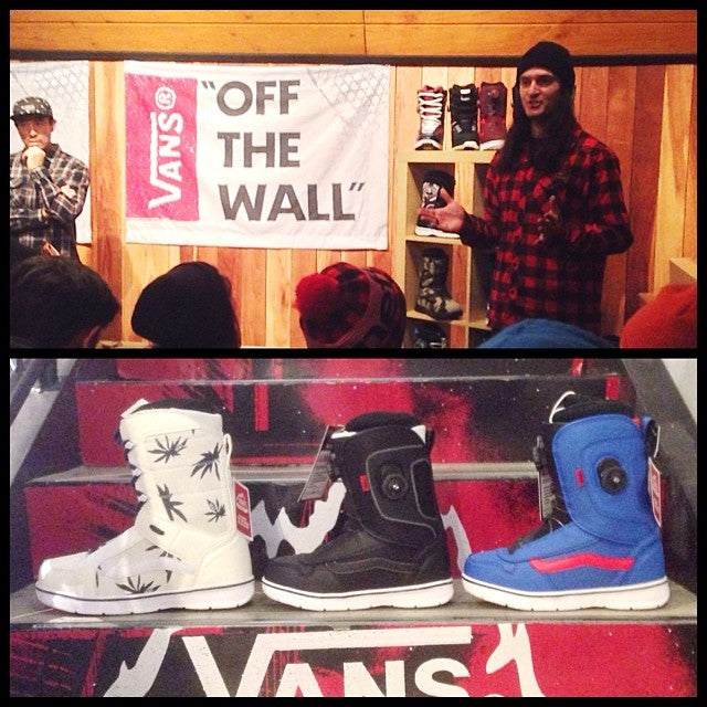 the shop staff had a lil demo of 2015 @vanssnow boots up @mtseymour last night. these things ride sick! we've still got a bunch of 2014 in stock. grab a pair of auras and get out there. seymourparklaps