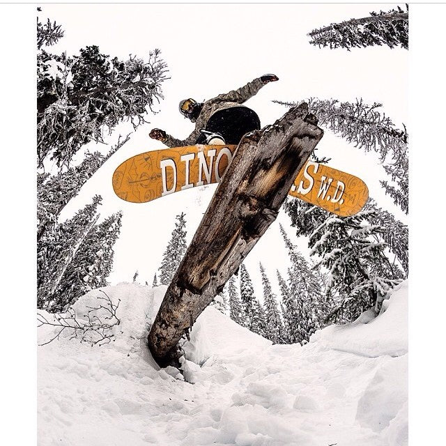 @snowboardmag just posted this photo of coastalriders team rider @seangenovese killing dinosaurs and natural jibs at @revelstokemtn @dinosaurs_will_die @sabre_fm @thirtytwo @bentmetalbinders