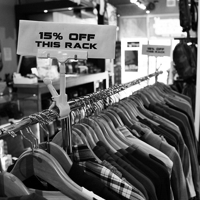 Kickin those Monday blues with a nice lil sale. Grab anything off these racks for 15% off  #hurry #beforeitsallgone #mondayblues