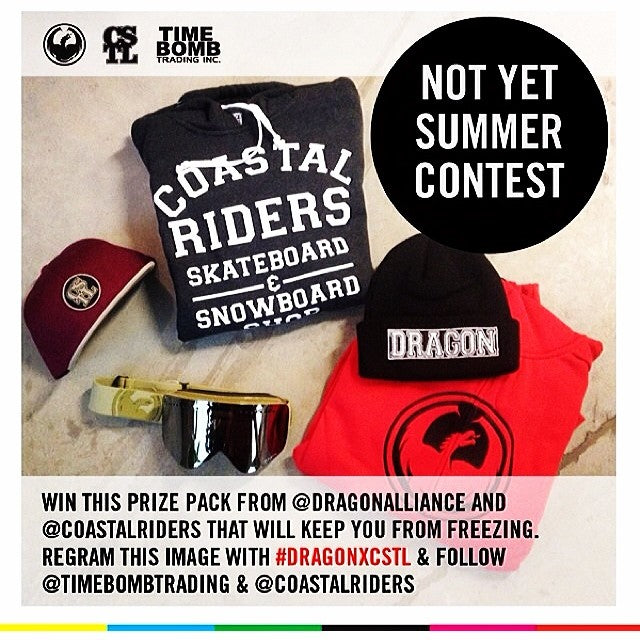 Last chance to be a big winner. Regram this @timebombtrading @dragonalliance @coastalriders contest with dragonxcstl to be entered to win. Winner will be randomly chosen tomorrow.