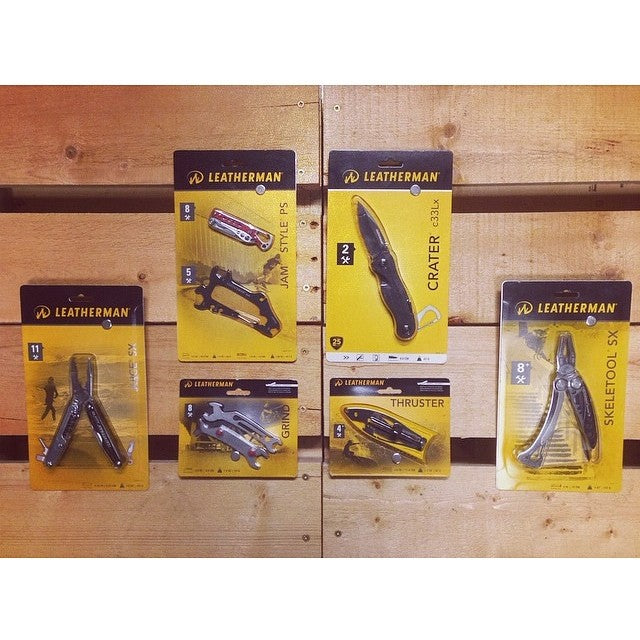 new @leathermansport skate, snow, and surf tools in shop today. tools for all your tuning needs. these things will last you forever durable tooltips