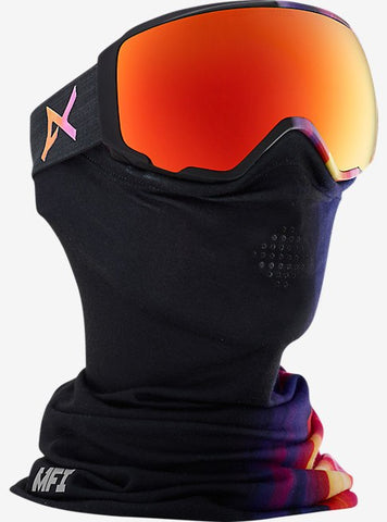 ANON WM1+MFI FACEMASK AURA BLK FRAME WITH RED SOLEX+RED ICE LENSES SNOW GOGGLES 2017