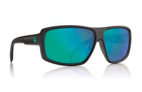DRAGON H2O DOUBLE DOS MATTE BLACK FRAME WITH GREEN ION POLARIZED LENS SUNGLASSES