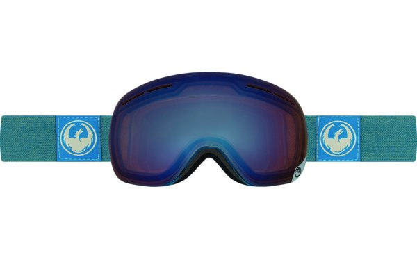 DRAGON X1s HONE BLUE-OPTIMIZED FLASH BLUE+OPTIMIZED FLASH GREEN LENSES SNOW GOGGLES 2017