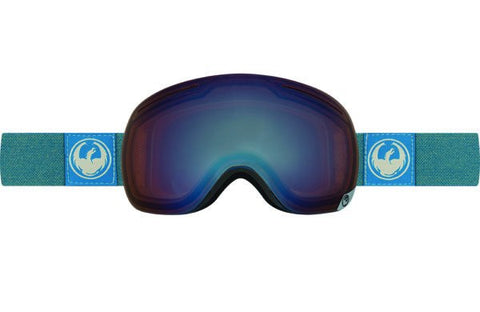DRAGON X1 HONE BLUE-OPTIMIZED FLASH BLUE+OPTIMIZED FLASH GREEN LENSES SNOW GOGGLES 2017