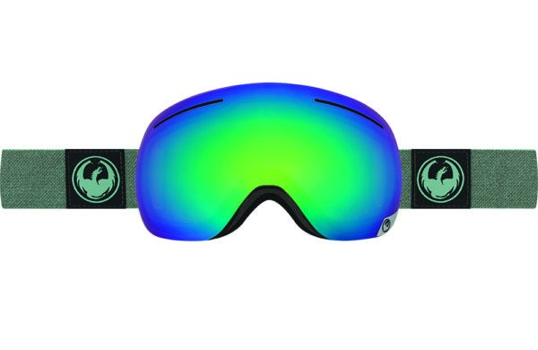 DRAGON X1 HONE EMERALD-OPTIMIZED FLASH GREEN+OPTIMIZED FLASH BLUE LENSES GOGGLES 2017