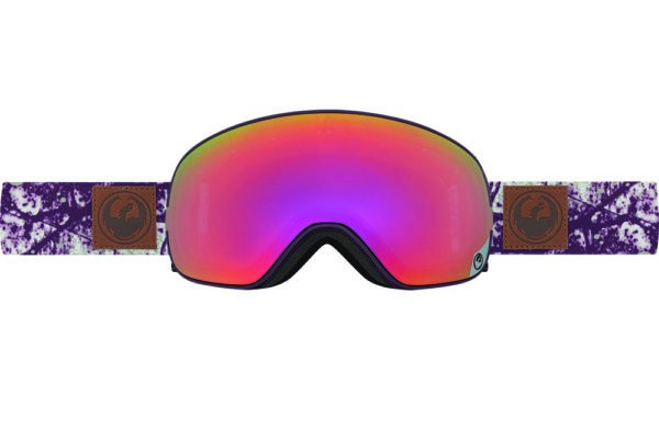DRAGON X2s PATINA-PURPLE ION+YLW RED ION LENSES SNOW GOGGLES 2017