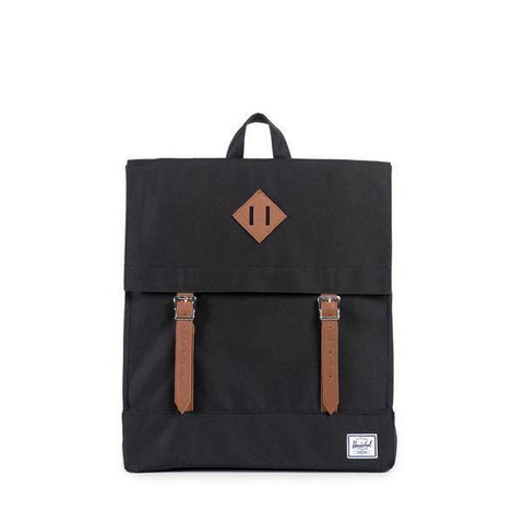 HERSCHEL SURVEY CANVAS BLACK BACKPACK - Coastal Riders