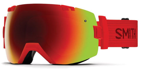 SMITH IOX FIRE FRAME WITH RED SOL-X MIRROR+BLUE SENSOR MIRROR LENS SNOW GOGGLES 2017