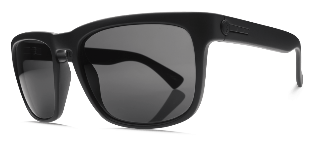 ELECTRIC KNOXVILLE MATTE BLACK FRAME WITH OHM GREY LENS SUNGLASSES