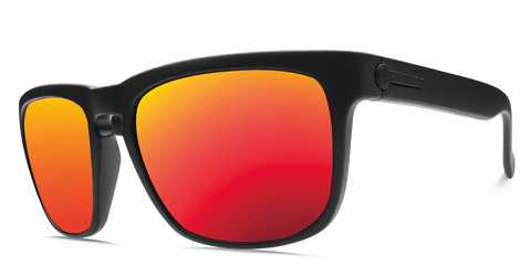 ELECTRIC KNOXVILLE MATTE BLACK FRAME WITH OHM GREY FIRE CHROME LENS SUNGLASSES