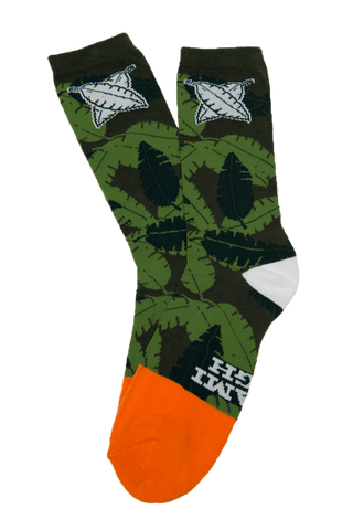MIAMI HIGH CAMO ORANGE DIPPED SOCKS