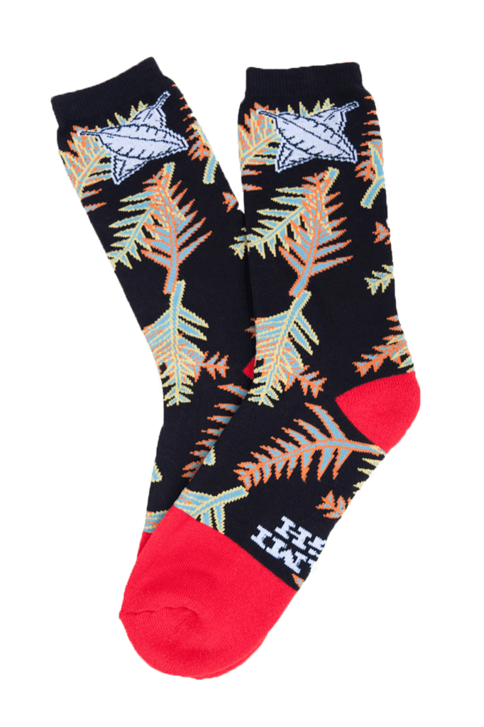 MIAMI HIGH BRANCH RED DIPPED SOCKS