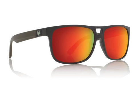 DRAGON ROADBLOCK H2O MATTE MAGNET FRAME WITH RED ION POLARIZED LENS SUNGLASSES