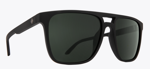 SPY CZAR SOFT MT BLK FRAME WITH HAPPY GRAY GREEN SUNGLASSES