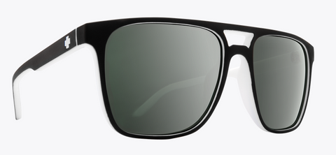 SPY CZAR WHITEWALL FRAME WITH HAPPY GRAY GREEN W/PLATINUM SPEC MIRROR SUNGLASSES