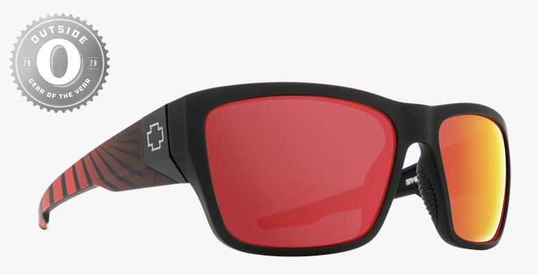 SPY DIRTY MO 2 MT BLK RED BURST FRAME WITH HD PLUS ROSE POLAR WITH RED SPEC MIRROR SUNGLASSES