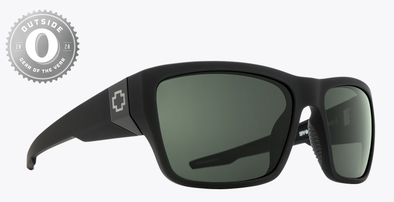 SPY DIRTY MO 2 SOFT MT BLK FRAME WITH HD PLUS GRAY GREEN POLAR SUNGLASSES