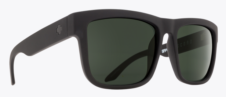 SPY DISCORD SOFT MT BLACK FRAME WITH HD PLUS GRAY GREEN POLAR SUNGLASSES