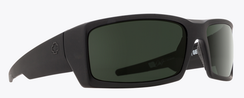 SPY GENERAL SOFT MT BLK FRAME WITH HAPPY GRAY GREEN POLAR SUNGLASSES