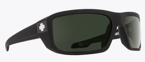 SPY MCCOY SOFT MT BLK FRAME WITH HD PLUS GRAY GREEN SUNGLASSES