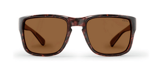 ZEAL CASCADE TORTOISE FRAME WITH ELLUME COPPER POLARIZED LENS SUNGLASSES