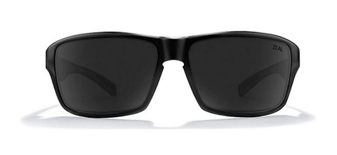 ZEAL INCLINE MATTE BLACK FRAME WITH ELLUME DARK GREY POLARIZED LENS SUNGLASSES
