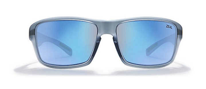 ZEAL INCLINE MATTE SMOKE FRAME WITH ELLUME HORIZON BLUE POLARIZED LENS SUNGLASSES